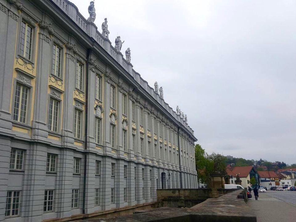 Die Residenz bei schlechtem Wetter. Foto: Isabella Noack