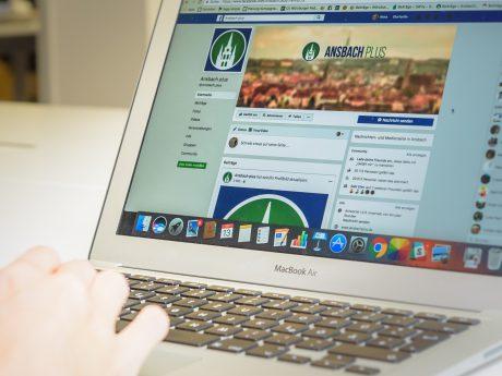 Die Ansbach Plus Facebook-Seite mit neuem Logo. Foto: Pascal Höfig