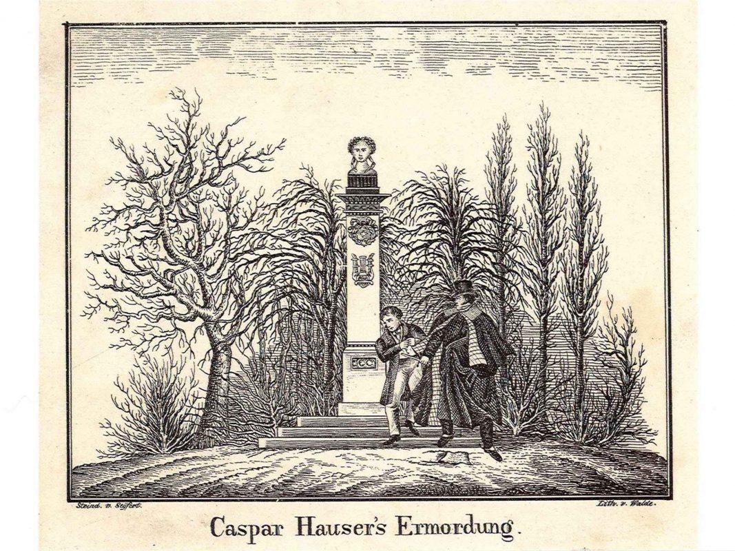 Eine Darstellung des Attentates auf Kaspar Hauser im Hofgarten - Foto: Stadtarchiv Ansbach.