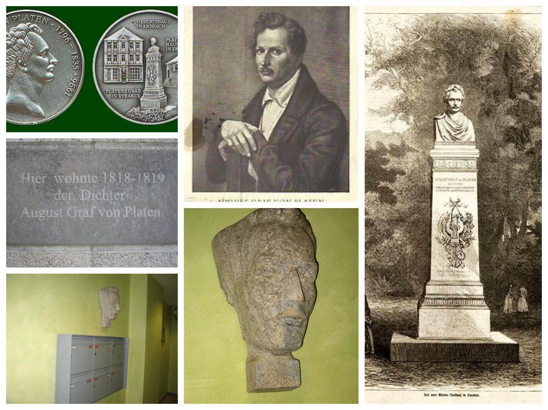 Der Dichter August von Platen wurde 1796 in Ansbach geboren.