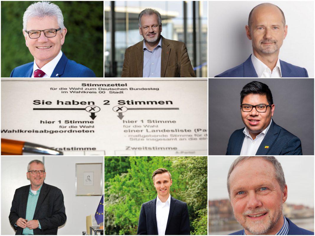 Die Direktkandidaten aus dem Wahlkreis Ansbach für die Bundestagswahl - Fotos: Die jeweilige Partei.