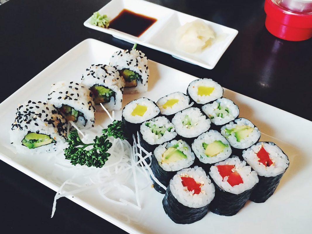Leckeres vegetarisches Sushi - Foto: Meliz Kaya.