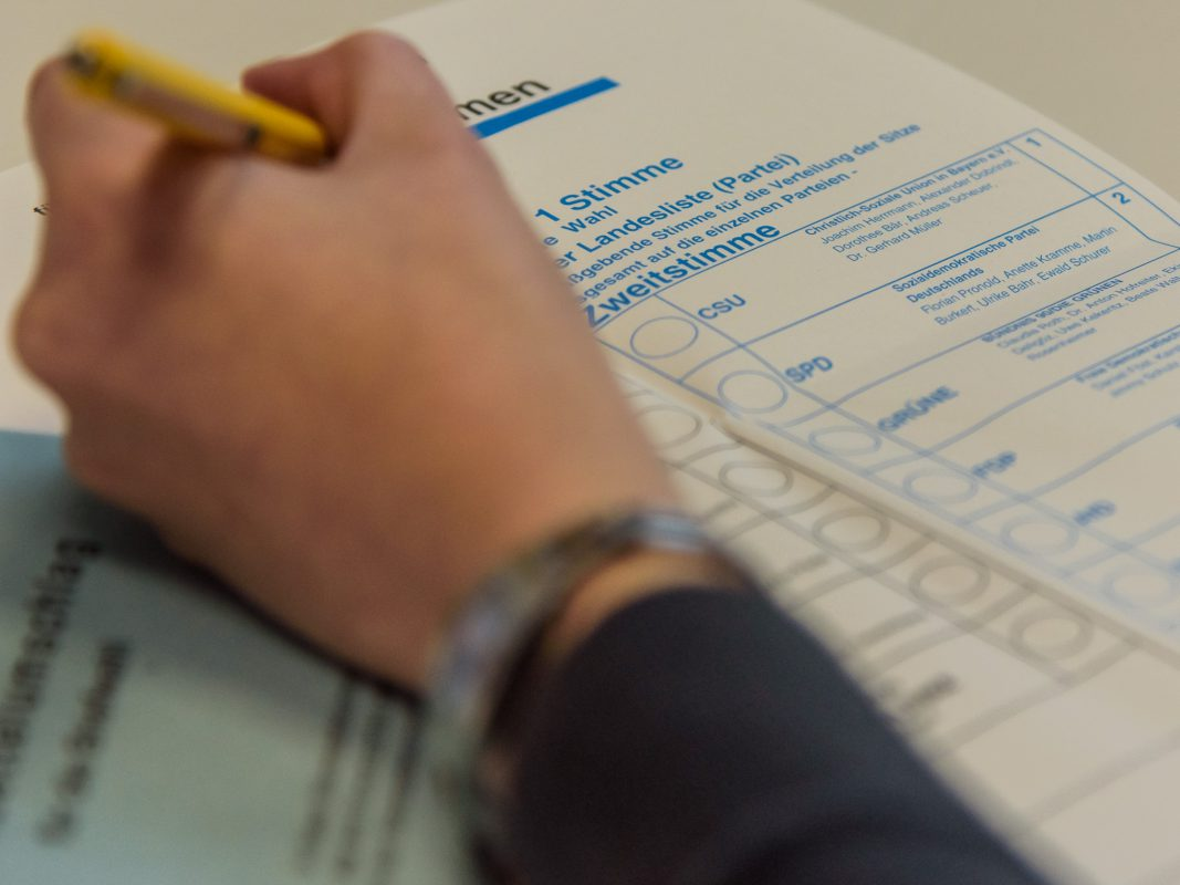 Symbolbild Wahlzettel. Foto: Pascal Höfig.