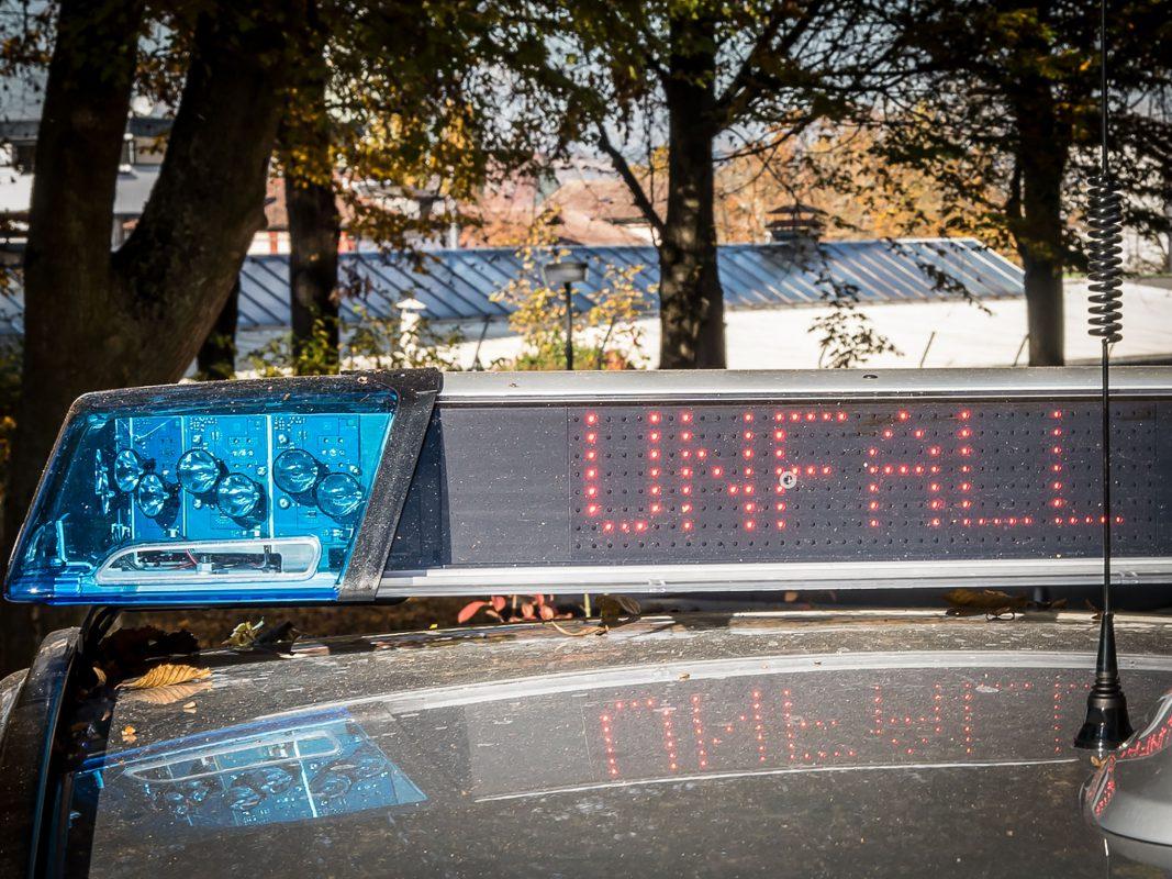 "LED-Warnung ""Unfall"" der Polizei. Foto: Pascal Höfig"
