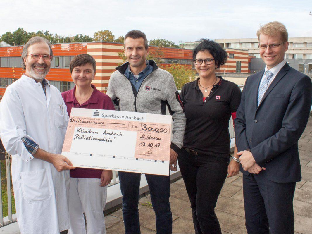 3.000 Euro-Spende für Palliativstation - Ansbach Plus