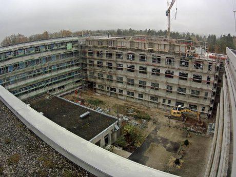 Besichtigung der Baustelle Klinikum Ansbach. Foto: ANregiomed