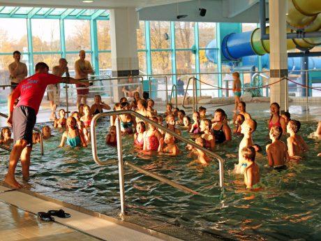 Großer Andrang beim Indoor-Fun-Event im Aquella. Foto: Stadtwerke Ansbach