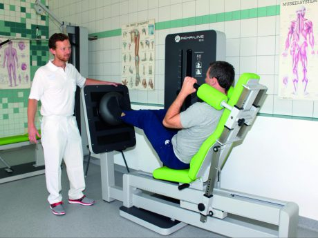 Moderne Methoden in der Krankengymnastik. Foto: ANregiomed