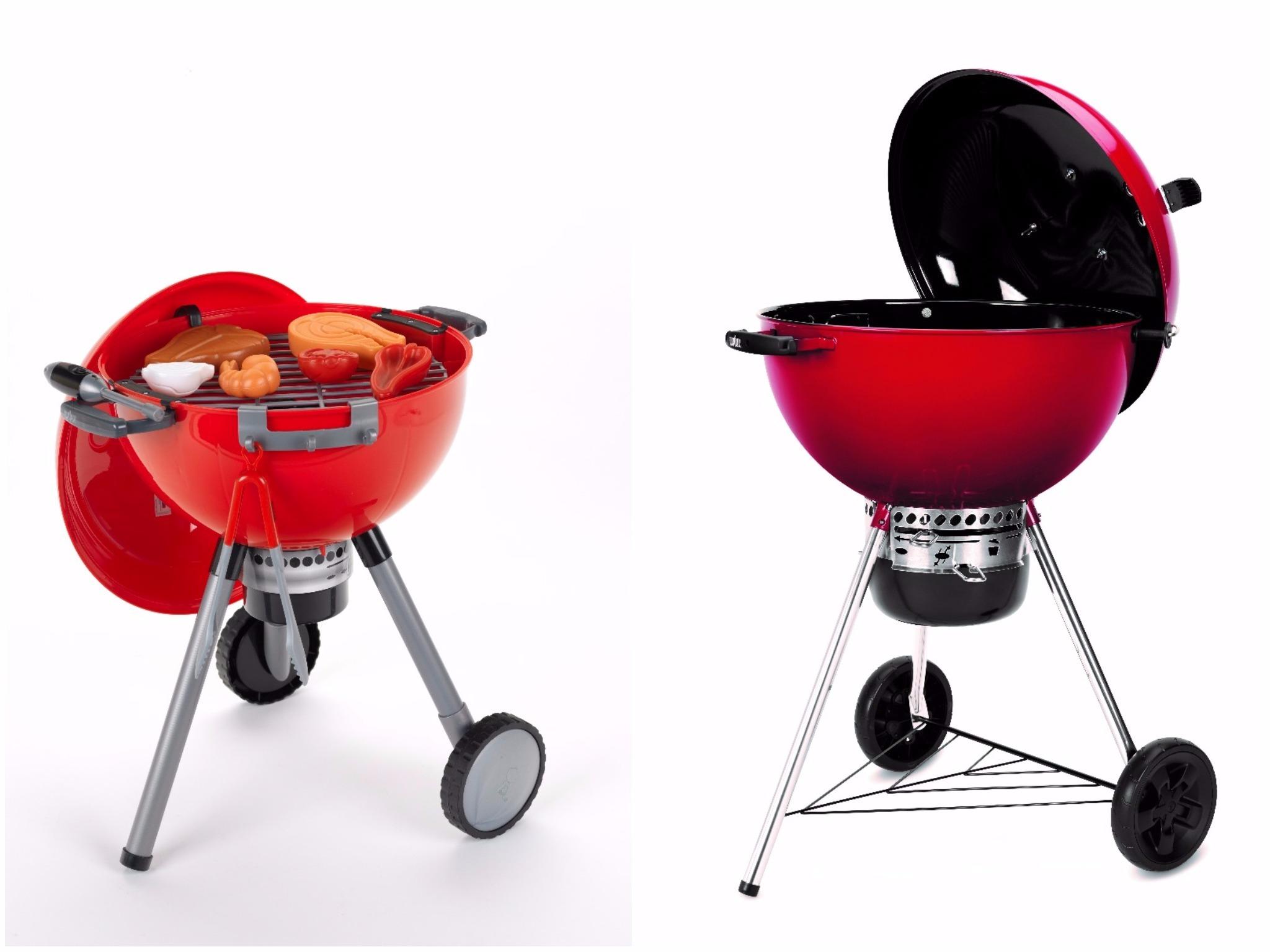 """Zu jedem Webers Master Touch Grill gibt es am """"red Saturday"""" einen Kindergrill obendrauf. Foto: S-Kultur"""