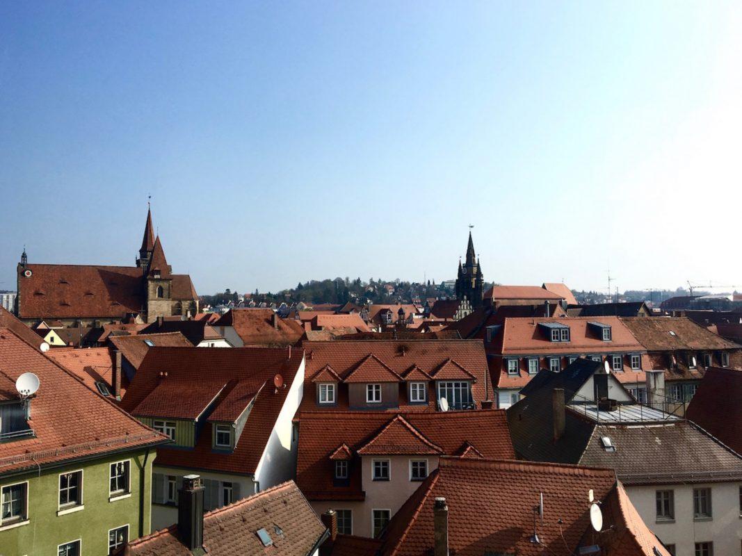 Über den Dächern Ansbachs. Foto: Larissa Noack