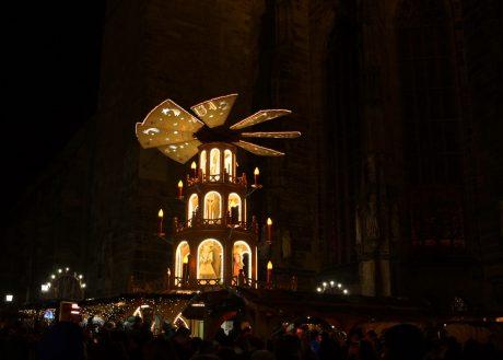 Der Ansbacher Weihnachtsmarkt. Foto: Barbara Duna