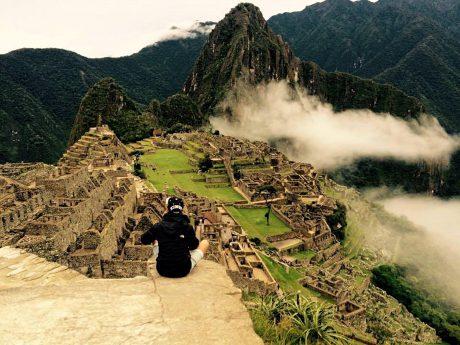 Maximilian im Februar 2015 in Machu Picchu (Peru), einer Ruinenstadt und eines der neuen 7 Weltwunder. Foto: Simon Kauer