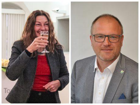OB Carda Seidel und Stefan Pruschwitz, Geschäftsführer Citymarketing Ansbach e.V. Fotos: Ansbachplus / Citymarketing Ansbach