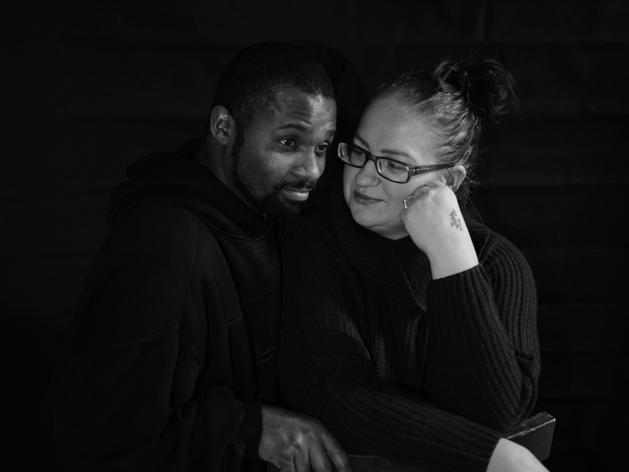 Jacqueline mit ihrem Mann. Foto: Jacqueline Filmore