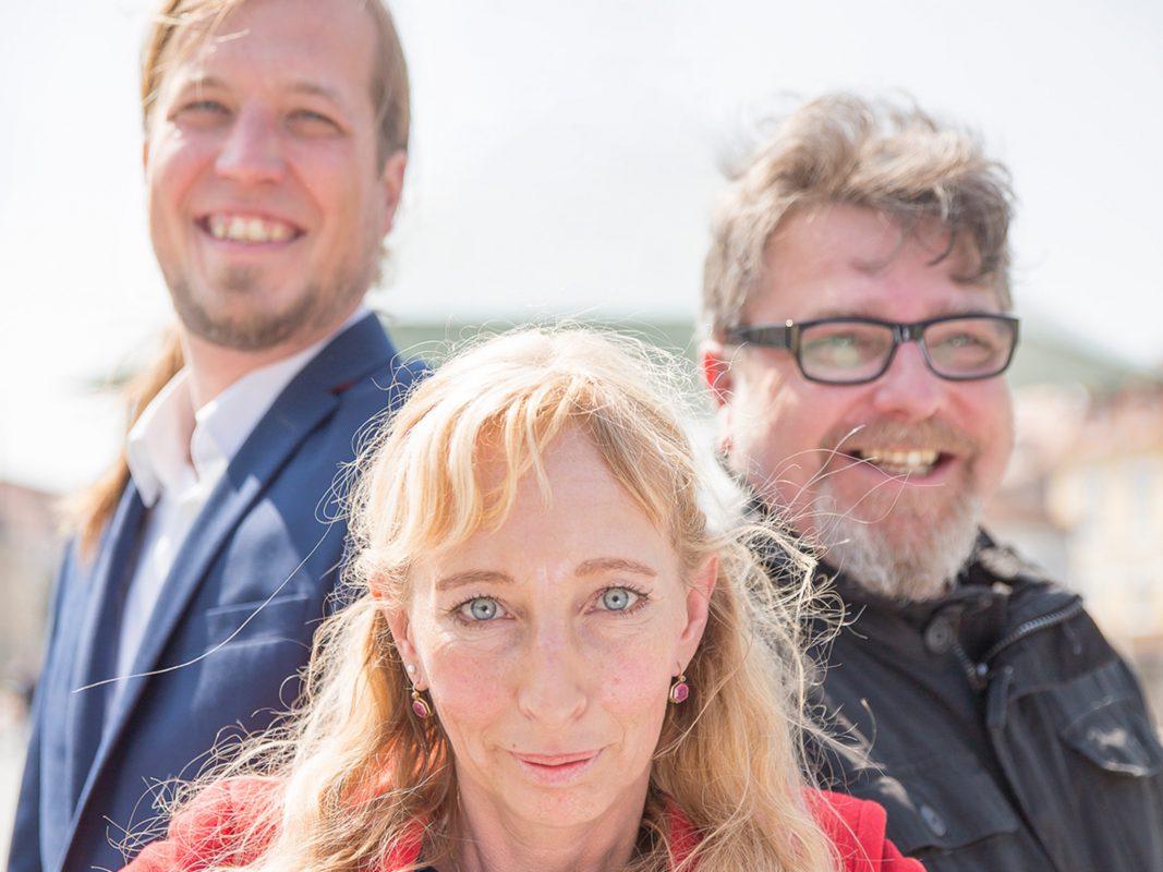 v.l.n.r. Boris-André Meyer, Kerstin Weinberg-Jeremias, Uwe Schildbach. Foto: Melanie Lay.
