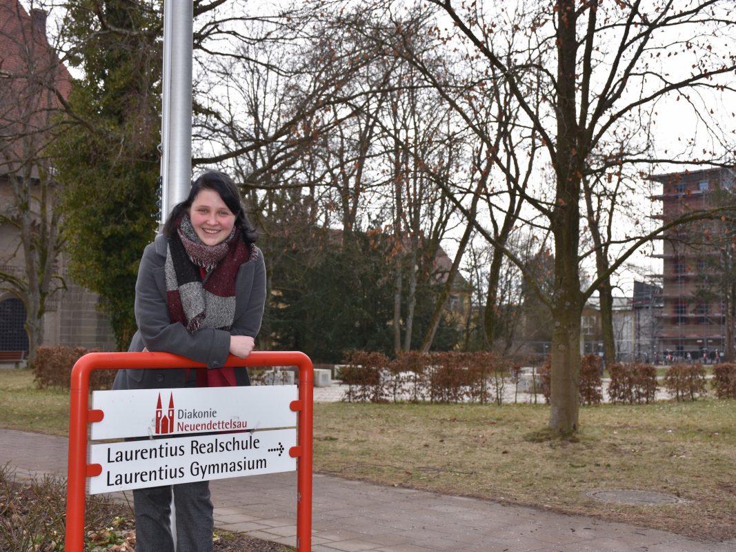 Als erste Schülerin des Laurentius-Gymnasiums hat Angelina Keller das Stipendium der Diakonie Neuendettelsau für die bayerischen Model United Nations erhalten. Foto: Diakonie Neuendettelsau