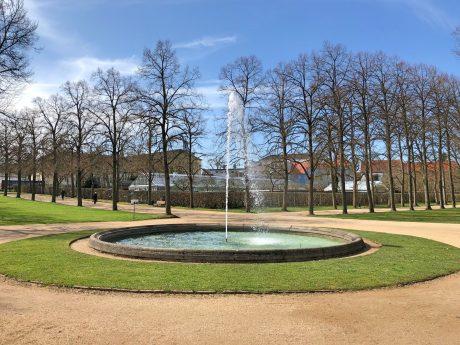 Der Brunnen im Ansbacher Hofgarten. Foto: Frederik Löblein.
