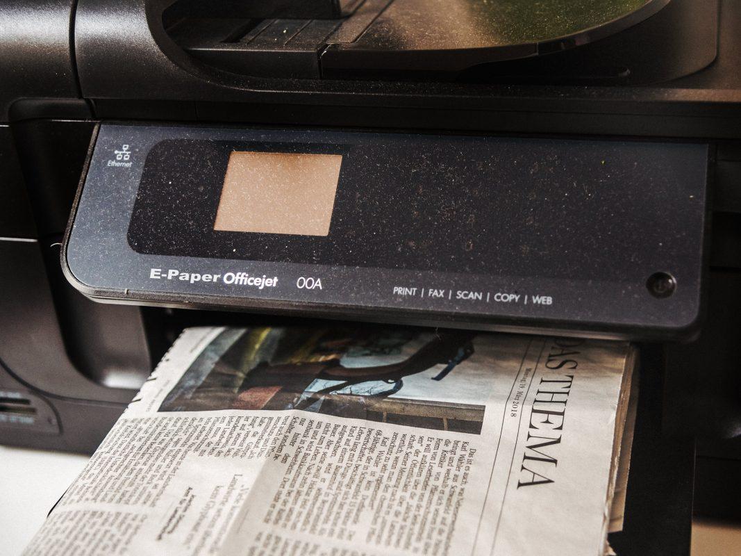 E-Paper Printer. Symbolfoto: Pascal Höfig