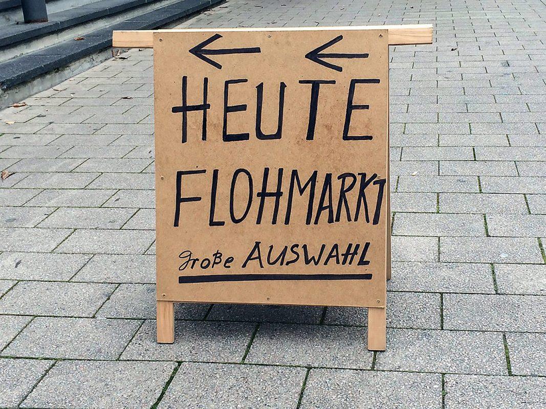 """""""Heute Flohmarkt!"""" Foto: Pascal Höfig"""