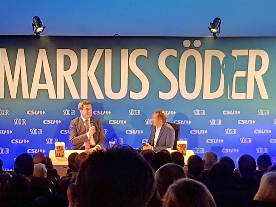 Bayerns Ministerpräsident Markus Söder zu Gast in Ansbach. Foto: Attila-Salih Yildi.