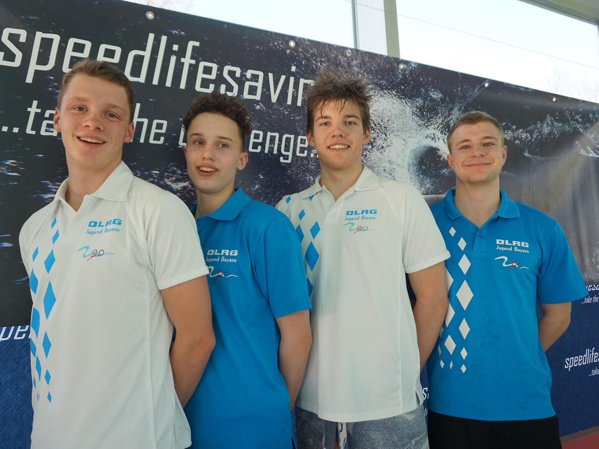 Die Herren der DLRG Jugend Bayern. Tim Dulitz ganz links. Foto: Thorsten Dulitz