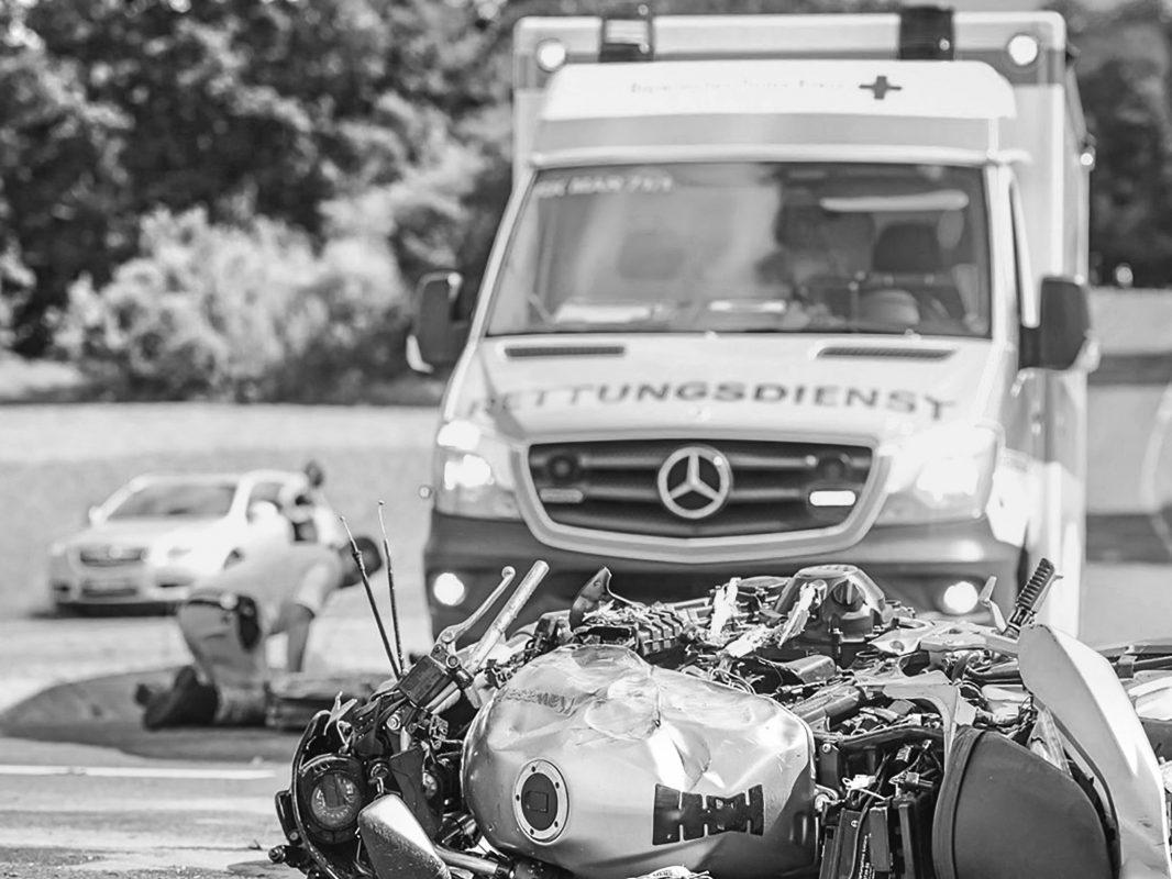 Symboldbild tödlicher Motorradunfal. Foto: Pascal Höfig.