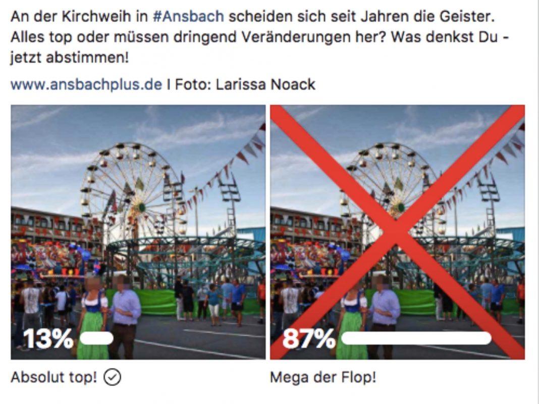 Unsere FB-Umfrage zeichnet ein glasklares Bild. Foto: Ansbach Plus.