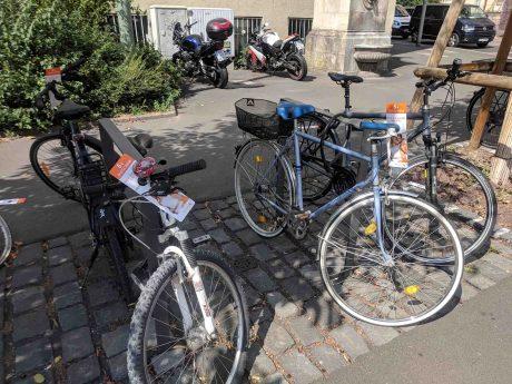 Werbung an Fahrrädern. Foto: Christian J. Papay