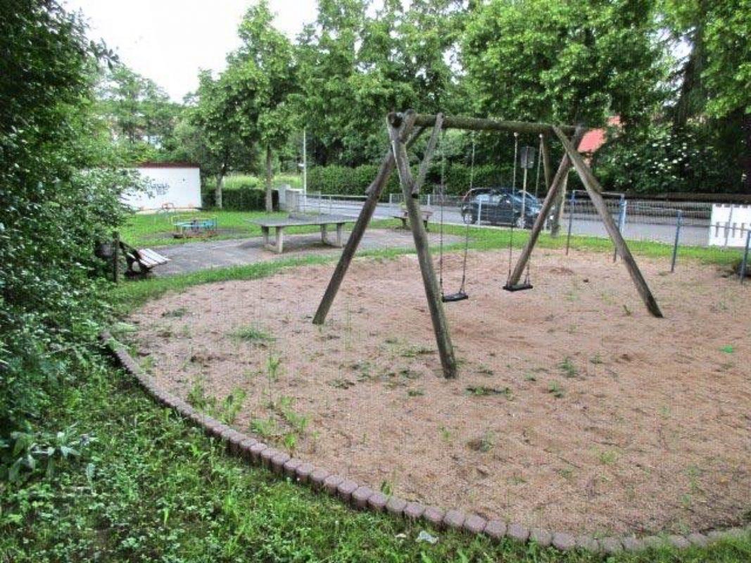 So sah der Spielplatz vor der Sanierung aus. Foto: Stadt Ansbach.