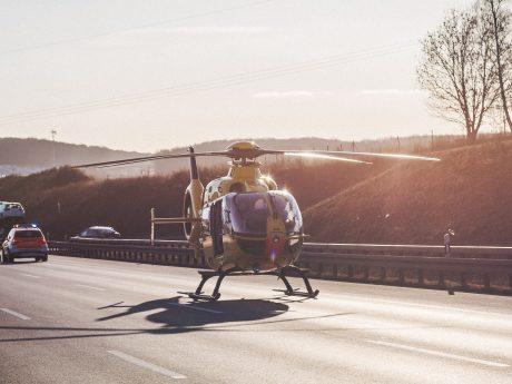 Rettungshubschrauber im Einsatz. Symbolfoto: Pascal Höfig