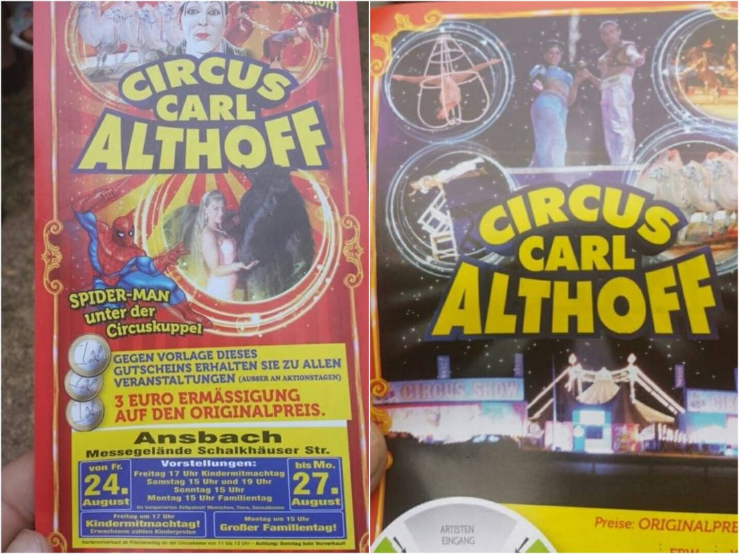 Circus Carl Althoff gastiert in Ansbach. Fotos: Chris Ureba.
