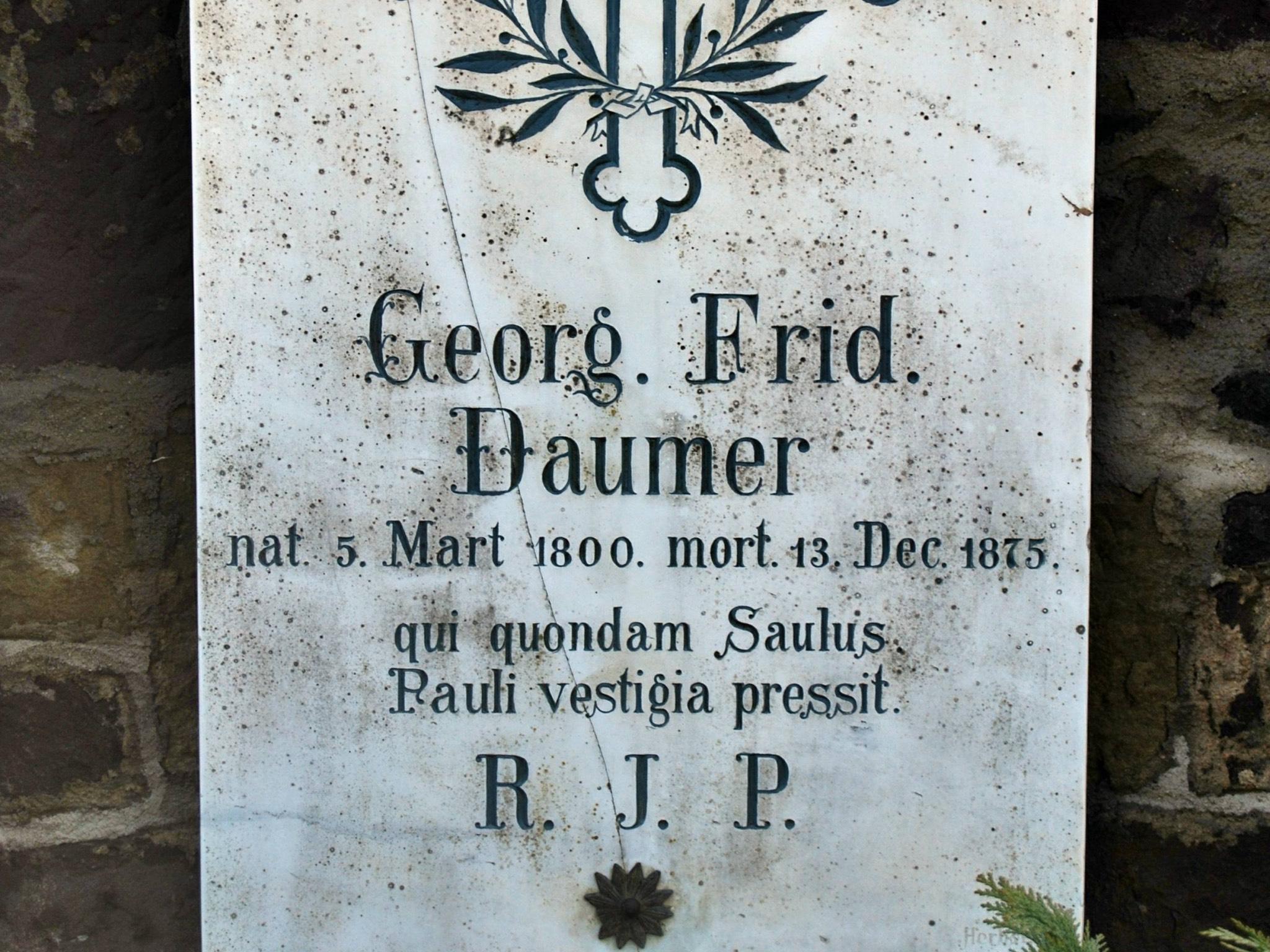 Die letzte Ruhestätte Georg Friedrich Daumers auf dem Würzburger Hauptfriedhof. Archiv: Willi Dürrnagel
