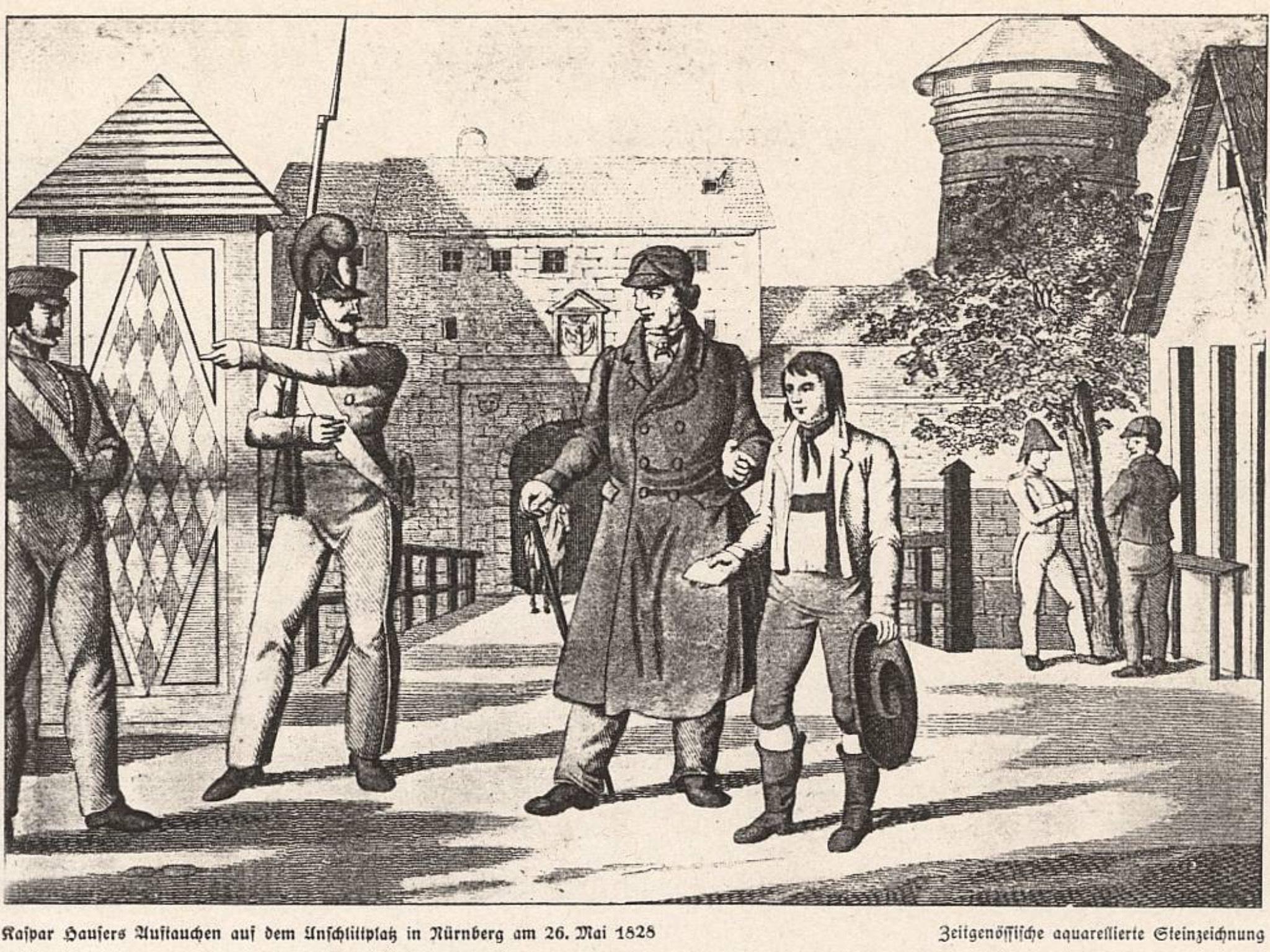 Das mysteriöse Auftauchen des Kaspar Hauser am 28. Mai 1828. Archiv: Willi Dürrnagel