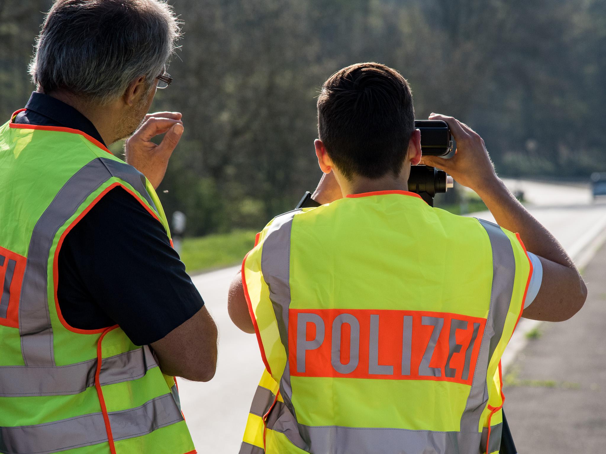 Geschwindigkeitskontrolle der Polizei. Foto: Pascal Höfig