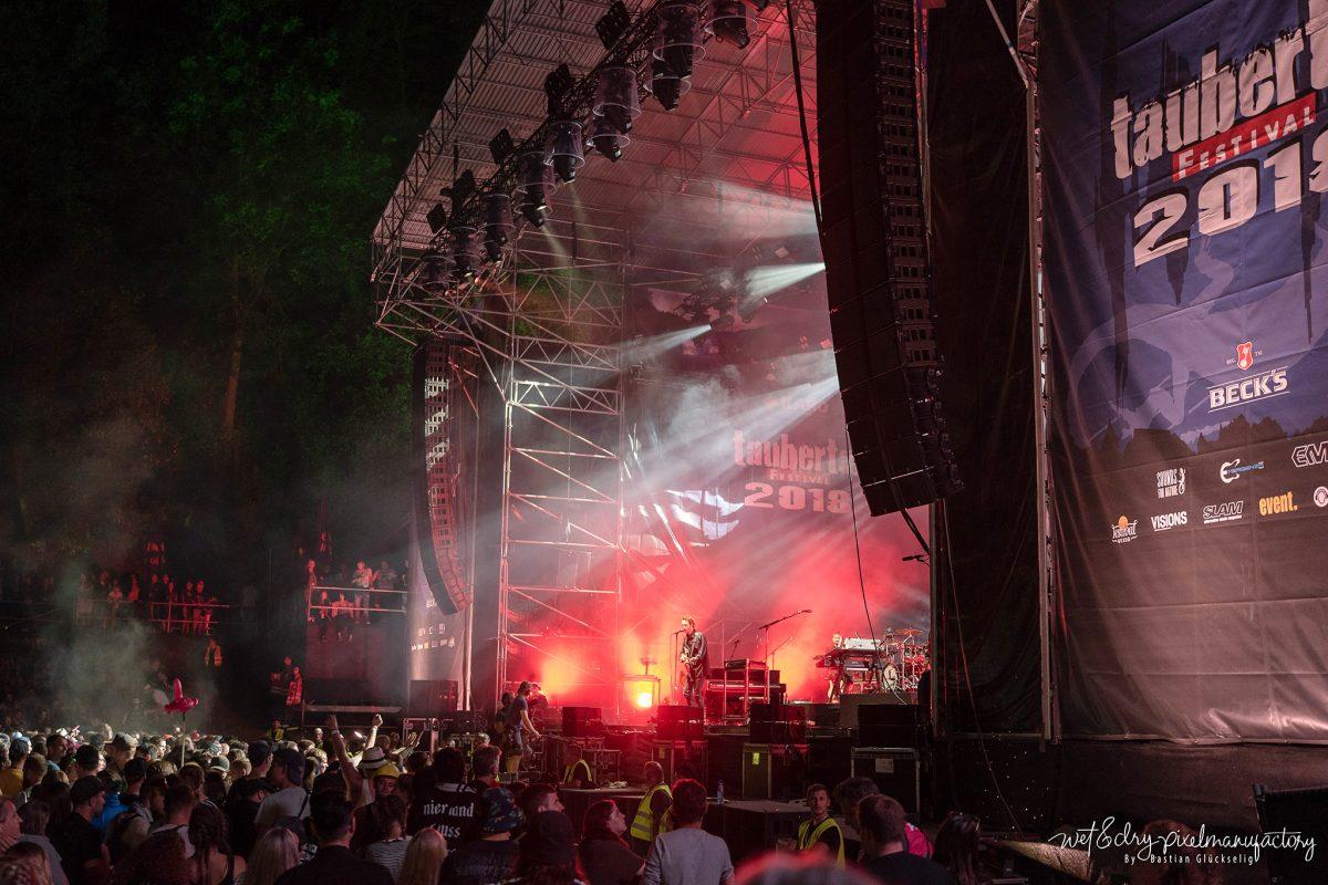 Rund 15000 Besucher feierten am Freitag auf dem Taubertalfestival. Foto: Bastian Glückselig