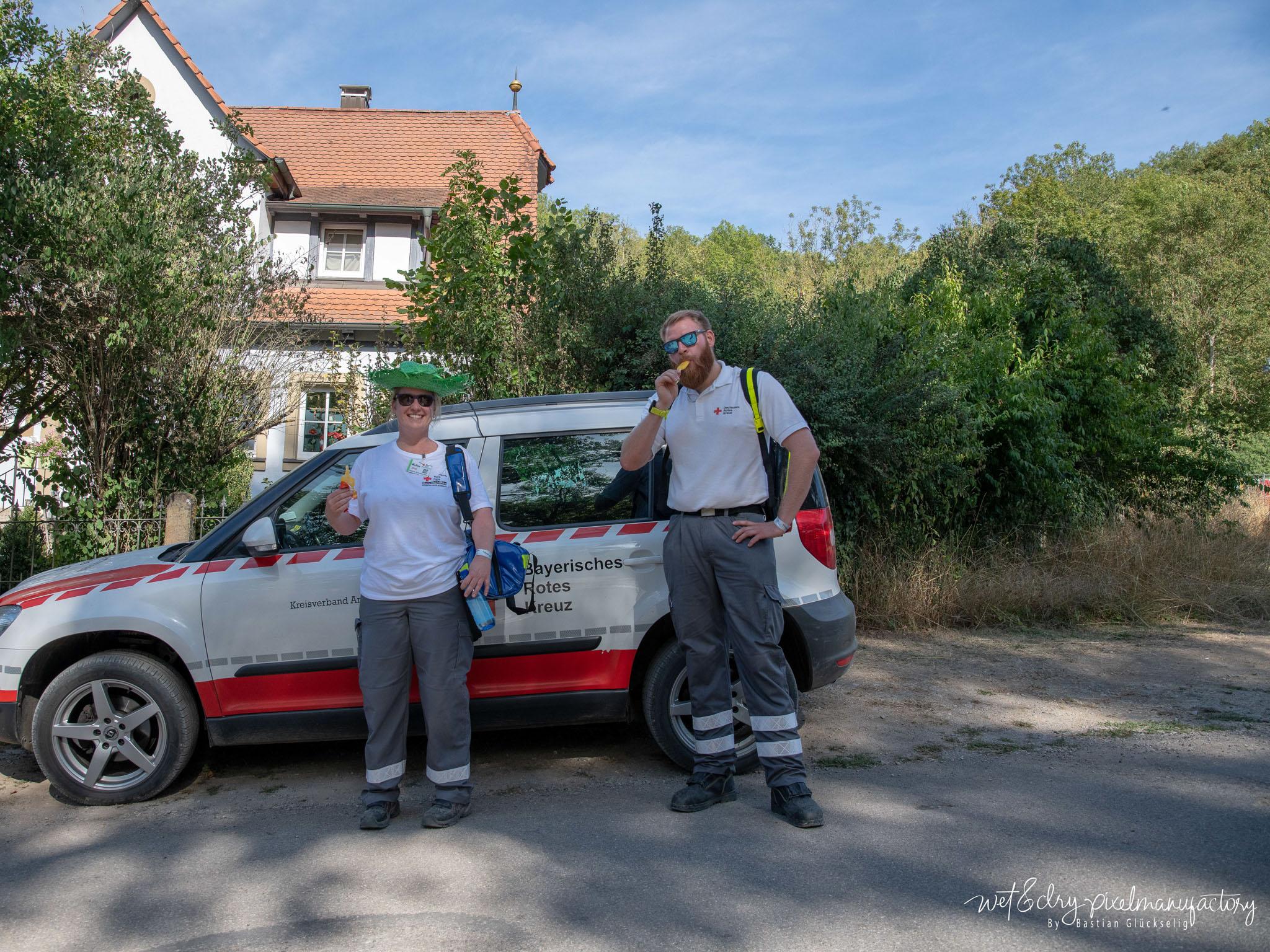 Das BRK und die DLRG OV Ansbach e. V. haben für die medizinische Versorgung gesorgt. Foto: Bastian Glückselig