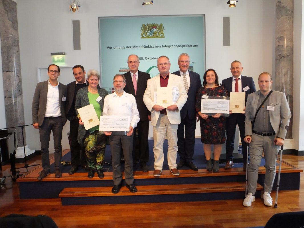 Preisverleihung mit Integrationsminister Joachim Herrmann. Foto: Regierung von Mittelfranken