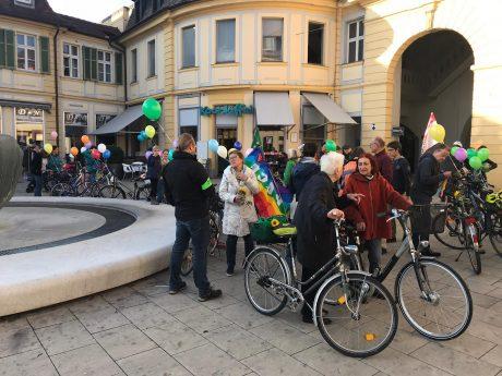 Demonstration am 26. Oktober in der Fußgängerzone. Foto: Nico Jahnel