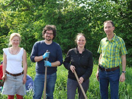 Die Gartenpiraten Ansbach mit Unterstützer Wolfgang Hedel. Foto: Die Gartenpiraten