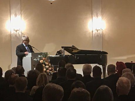 Klaus Dieter Breitschwert bei der Ehrenbürger-Zeremonie am 19. November 2018. Foto: Nico Jahnel