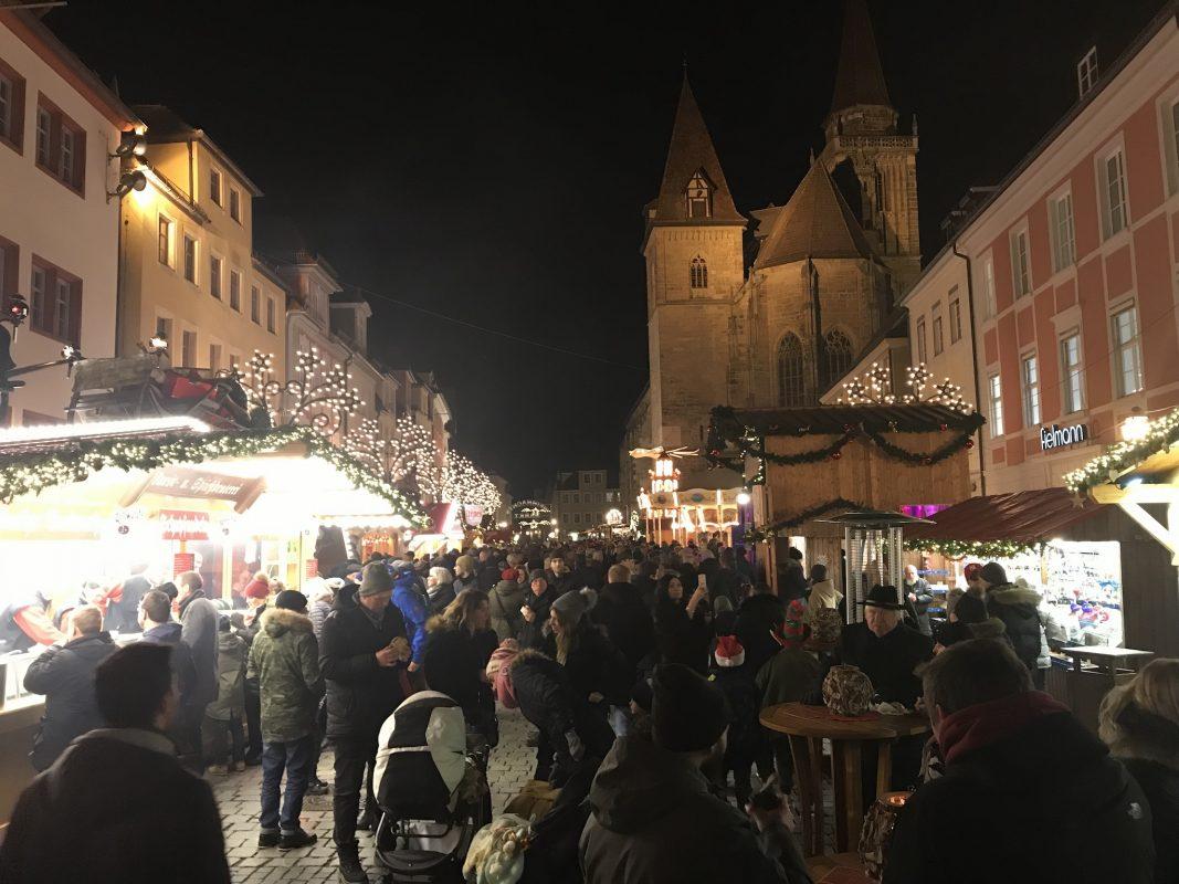 Der Ansbacher Weihnachtsmarkt. Foto: Nico Jahnel