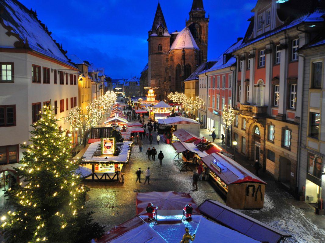 Der Ansbacher Weihnachtsmarkt. Foto: Stadt Ansbach