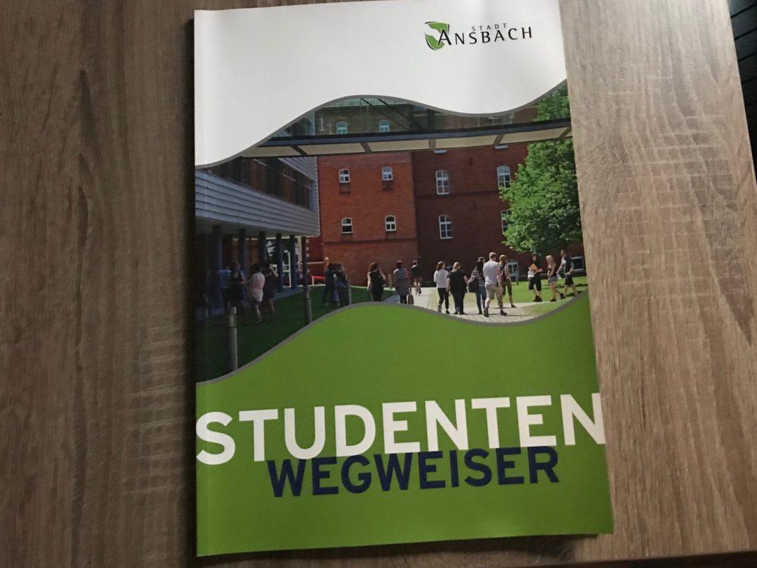 Der Studentenwegweiser der Stadt Ansbach. Foto: Nico Jahnel