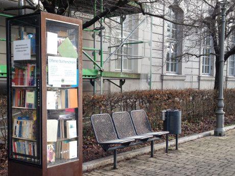 Öffentlicher Bücherschrank Ansbach. Foto: Inna Ernst