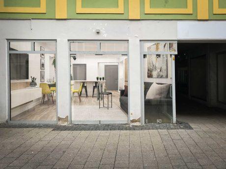 Maßnahmenpaket zum 1. April: Leerstand soll zu Mini-Wohnungen umfunktioniert werden. Fotomontage: Nico Jahnel / Dominik Ziegler