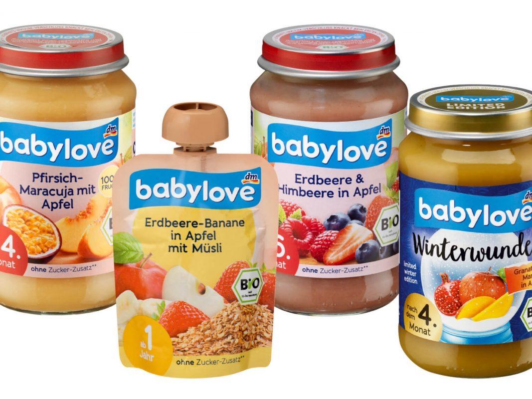 Die vom Rückruf betroffenen Babylove-Artikel. Foto: drogerie markt I DM