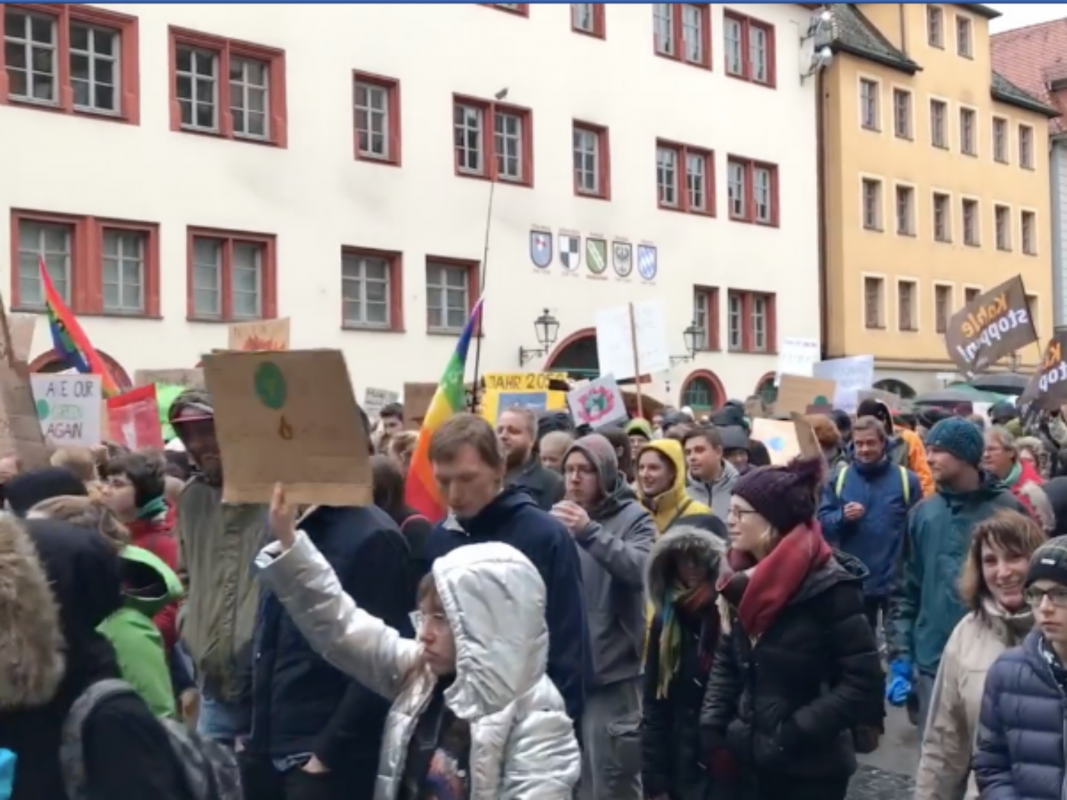 "Die ""Fridays for Future"" Demonstration in Ansbach. Foto: Nico Jahnel"