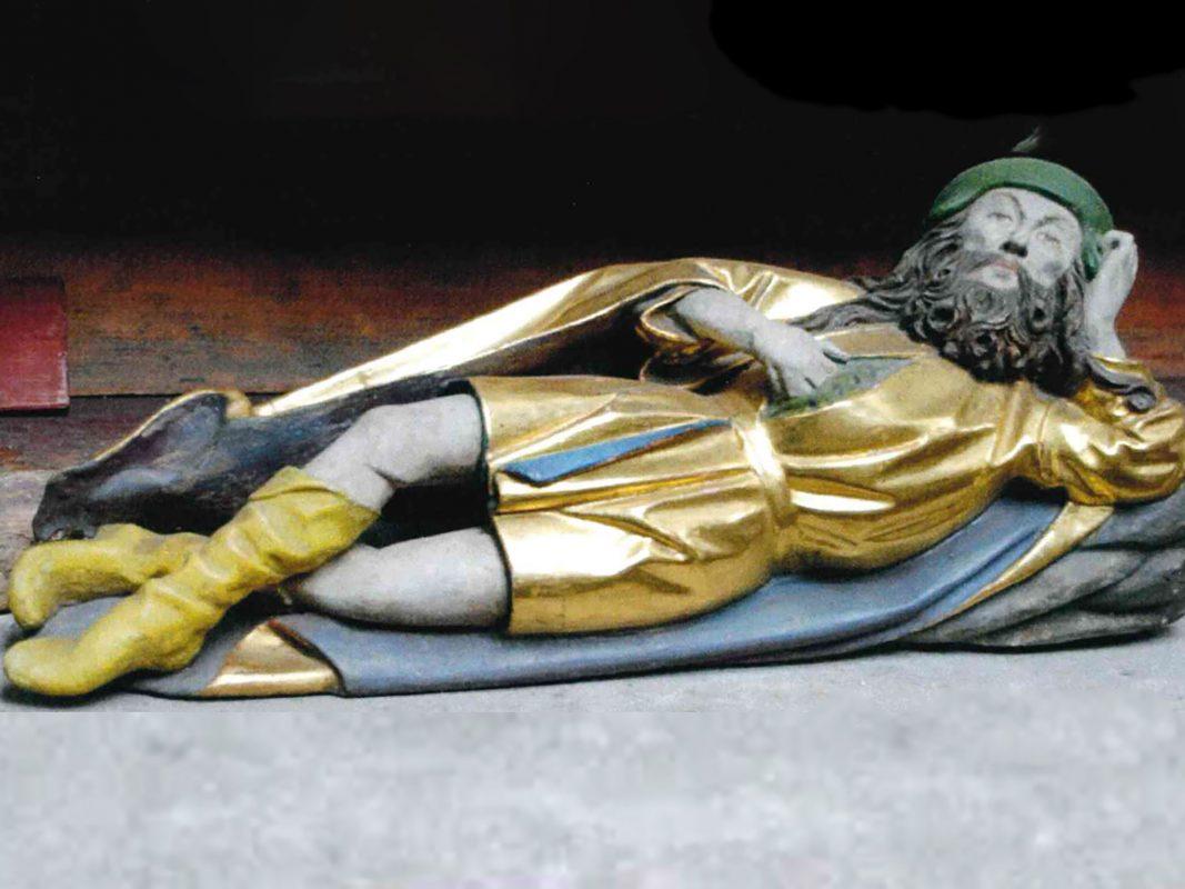 Die Holzfigur des Heiligen Alexius wurde gestohlen. Foto: Polizei