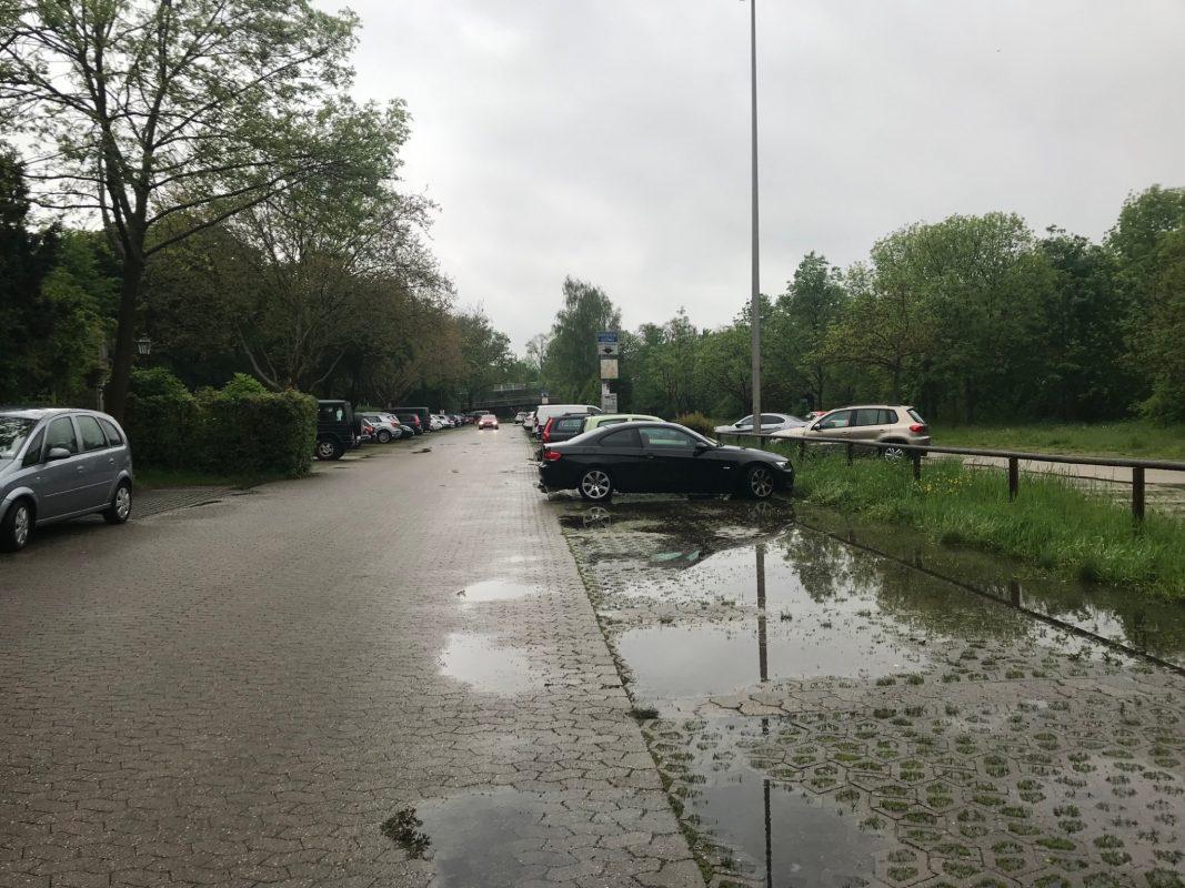 Der Rezatparkplatz in Ansbach. Foto: Nico Jahnel