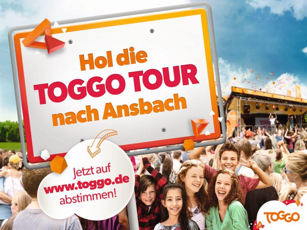 Ansbach ist unter den 3 Finalisten im Kampf um die TOGGO Tour 2019; Foto: Stadt Ansbach